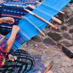 Indigenous craft vendors in Panajachel Guatemal
