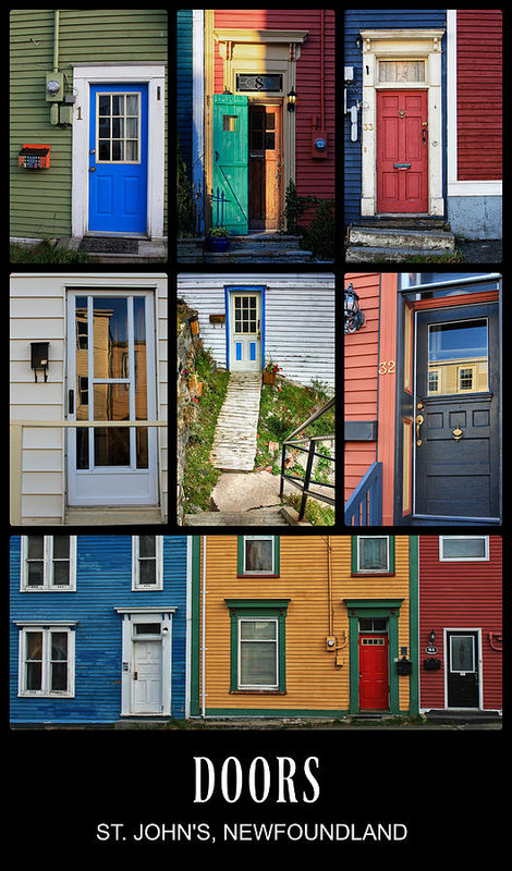 Doors In St. Johns, Newfoundland Art Print by Tatiana Travelways